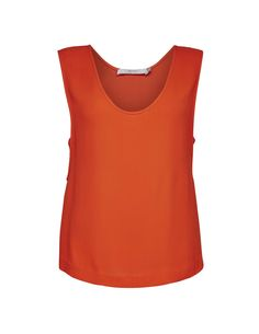 Heidda top - Women's strap top in viscose-stretch. Features deep rounded neckline and  fabric at sides. Regular fit.