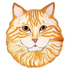 Rescue Me Now Orange Tabby Cat Ear Plate, 11-1/2-Inch by Pavilion Gift company. $28.00. Ceramic constructed dinner or salad plate. Perfect for the dog or cat collector. Hand-painted from original photo. Dishwasher-safe. A portion of the proceeds from the sale of every item in the rescue me now collection benefits the wspa, world society for the protection of animals. Rescue Me Now is a passionately hand-painted line of cats and dogs from actual rescued animals.  A...