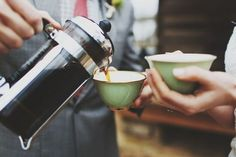Sharing Coffee. French Press.