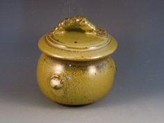 Trinket Jar With Beautiful Green Glaze, Ready To Ship by potmaker on Etsy