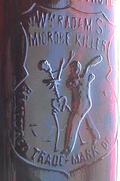 Items similar to Antique QUACK Medicine bottle Wm Radam's Microbe Killer - 1887 - CURES all DISEASES - w/pic man beating Skeleton - and spelling error on Etsy Small Glass Bottles, Medical Devices, Medicine Bottles, Some Image, Little Things, Skulls, Drugs, Bones, Nerdy