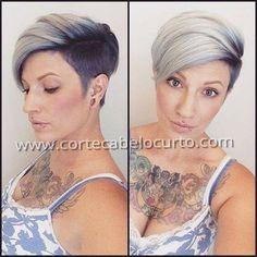 Moderno e curto #cabeloscurtos #perfeito #pelocorto #mulheres