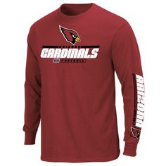 Arizona #Cardinals Long Sleeve Primary Receiver Tee. Click to order! - $29.99