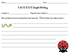 compare and contrast insects writing and double bubble thinking map