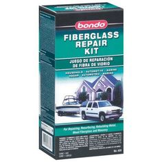 Bondo Fiberglass Resin Repair Kit, 1/2 Pint, Multicolor
