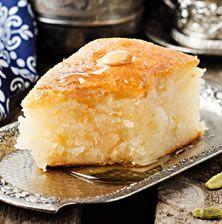 Basbousa recipe it has different names like; Namoura recipe or Harissa recipe .Basbousa recipe it has different names like; The Namoura recipe or the Harissa recipe is one of the most delicious sweets of Ramadan. Arabic Dessert, Arabic Sweets, Arabic Food, Turkish Dessert, Egg Free Recipes, Almond Recipes, Sweets Recipes, Greek Sweets, Greek Desserts