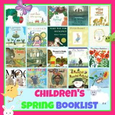 20 Childrens Books to Help You Hop into Spring by Val Curtis of Bonbon Break - great as a filler for those Easter baskets!
