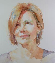 Watercolor Portrait Tutorial, Watercolor Portrait Painting, Watercolor Art Face, Watercolor Paintings For Beginners, Watercolor Sketch, Portrait Art, Watercolor Illustration, Portrait Paintings, Painting People
