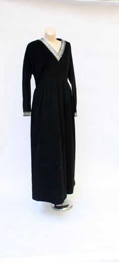 Vintage Gaymode lounging gown 1970's black by WindingRoadVintage, $28.00
