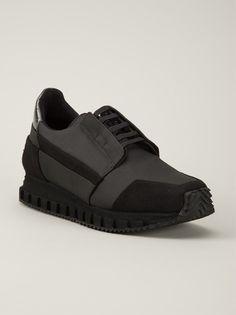 ROMBAUT Black Low Running Sneaker ⚪️