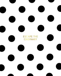 Black White Dots Kate Spade Escape The Ordinary by planeta444