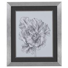 Bassett Mirror Silver Blue Tulips I