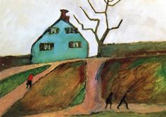 dappledwithshadow:  Little Green House Gabrielle Münter - 1910