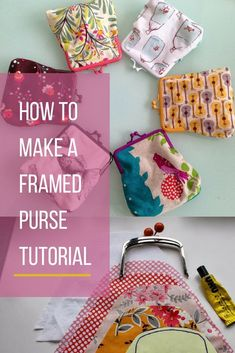 Sewing Machines How to make a metal framed/metal clasp purse tutorial Coin Purse Pattern, Coin Purse Tutorial, Pouch Tutorial, Wallet Pattern, Tote Pattern, Sewing Projects For Beginners, Sewing Tutorials, Tutorial Sewing, Bag Tutorials