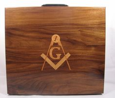 Masonic apron case made of solid walnut Masonic Gifts, Making Out, Solid Wood, Home Goods, Apron, Woodworking, Cases, Handmade, Hand Made
