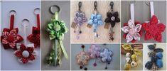 13 Ideas hermosas de sujeta cortinas con forma de flor ~ lodijoella Key Rings, Crochet Earrings, Diy, Sewing, Videos, Lavender, Boutique, Patchwork Embutido, Arrows