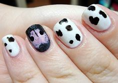 Nails & Nail Art ♥ / Doggy nose and fur manicure. Polished Love ♥