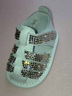 Baby Rhinestone Shoes Sandals Swarovski Crystal by SweetTipToes, $80.00