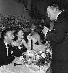 Frank Sinatra, Ava Gardner and Orson Welles, 1950's