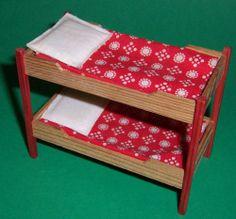 VINTAGE 1970's LUNDBY DOLLS HOUSE BUNK BEDS | eBay