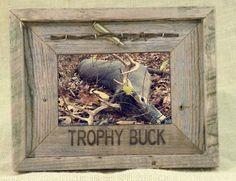 Trophy Buck 4X6 Barn Wood Photo Frame