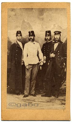 1859 - Emperor Franz Joseph I. of Austria-Hungary with his brothers. Left to right: Archduke Ludwig Viktor, Emperor Franz Joseph, Archduke Karl Ludwig, Archduke Ferdinand Maximilian | by L. Angerer