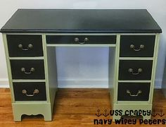 Chalkboard Paint Desk Makeover ~ USS Crafty