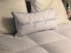 Master bed accent pillow