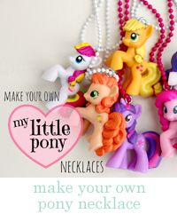 diy ♥ my little pony necklaces - Raising up Rubies I make these and sell them at the craft fairs. The kids love them and it gives me something to do with the blind bag duplicates. My Little Pony Party, Cumple My Little Pony, 6th Birthday Parties, Girl Birthday, Birthday Ideas, 1st Birthdays, Anniversaire My Little Pony, Party Mottos, Little Poney