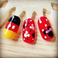 Mickey and Minnie nail designs