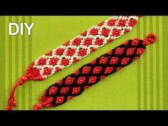 ▶ Macrame Bracelet with Small Beads / Tutorial - YouTube