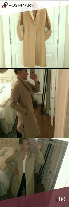 Camel Wool Duster Zara camel wool duster coat. Size medium Zara Jackets & Coats Pea Coats