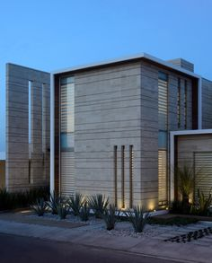 Facade Navona house A Sequence of Straight Lines Defining a Dream Mexican Home
