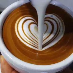 Latte Hearts❤️ - Coffee and Books Coffee Latte Art, Espresso Coffee, Coffee Cafe, Coffee Drinks, Coffee Shop, Iced Coffee, Coffee Barista, Coffee Lovers, Coffee Mugs