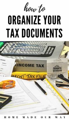 finance organization How to Organize Your Tax Documents and Avoid Stress During Tax Time Receipt Organization, Finance Organization, Business Organization, Organization Ideas, Organizing Tips, File Folder Labels, File Folders, Paper Clutter, Filing System
