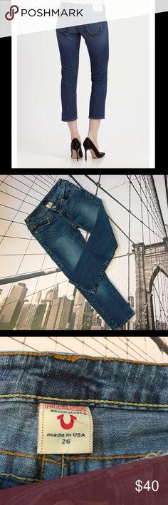 Authentic TRUE RELIGION Kate capris Desired True religion Kate capris jean! Size 26x22. True Religion Jeans