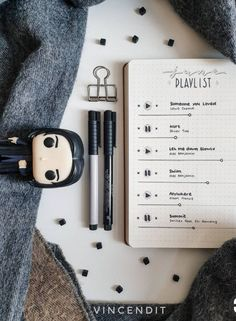 Haven't started your playlist bujo spreads yet? Now's the time to do that! Create a playlist right in your bullet journal!