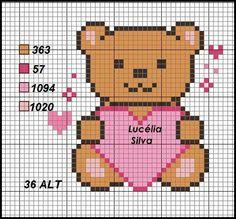 Wedding Cross Stitch Patterns, Cross Stitch Baby, Cross Stitch Kits, Valentine Gift Baskets, Valentine Gifts, Disney Stich, Stitch Cartoon, Crochet Stitches Patterns, Cross Stitching