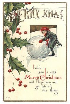 Kerstkaart - vintage christmas card