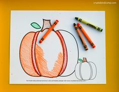 kid color pages pumpkin