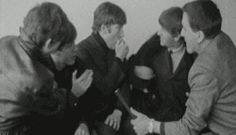 my gif gif Black and White the beatles Paul McCartney john lennon ringo starr george harrison Beatles gif first us visit 1960's 1964