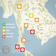 El tiempo en Tailandia en OCTUBRE