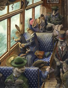 """His First Train Ride"" - Chris Dunn Illustration. This illustration just makes me happy!"