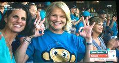 Happy Coastal Fans in Game 2----love that shirt...cute monkey!