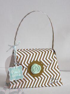 Stampin' Up! - Geschenkbox - Mini-Tasche - Geschwungenes Mini-Etikett - Alle meine Minis - Simply Pressed Clay - www.rosamaedchen.blogspot.de