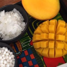 Coconut and mango - favourite combo Low Carb Recipes, Whole Food Recipes, Healthy Recipes, Fun Food, Good Food, Yummy Food, Healthy Habits, Healthy Food, Cooking Tips