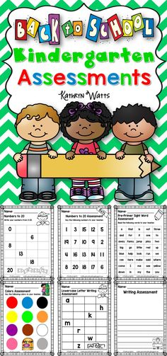 Kindergarten Back to School Assessments
