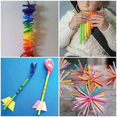 Como fazer Brinquedo com Canudos | Como fazer em casa Crochet Necklace, Crafts For Kids, Diy, Alice, Halloween, Toddler Arts And Crafts, Crafts For Children, Kids Playing, Pallet Night Stands