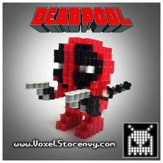 3D Deadpool Perler Beads by Voxel