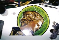STAINED GLASS PAINTING: FACES : The Art of Lyn Durham